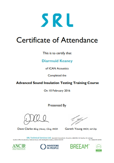 Sound Insulation Testing – ICAN Acoustics